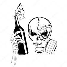 vector skull in gas mask u2014 stock vector vakabungo 16967375