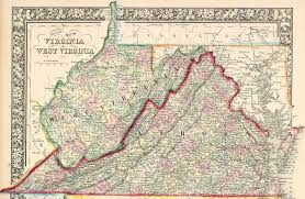 Map Of The United States During The Civil War by Virginia West Virginia Boundary