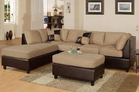 Reversible Sectional Sofas Brown Microfiber Vinyl Sofa Chaise Reversible Sectional S3net