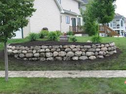 Garden Rock Wall Retaining Boulder Wall Pictures