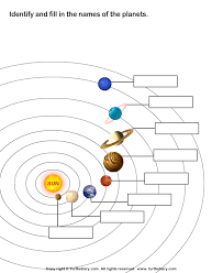 solar system worksheets either write the names in or have some