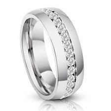 sti wedding ring diamond titanium rings for men ebay