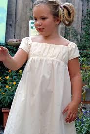 girls white dress empire waist dress girls party dress