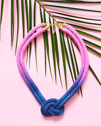 diy necklace rope images Dip dyed knotted rope necklace martha stewart jpg