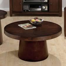 round wood coffee table rotsen victoria round wood slab coffee
