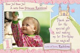 storybook princess birthday party thank you cards
