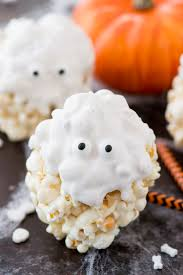 ghost popcorn balls the first year