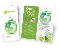 sided tri fold brochure template green environment brochure template design and layout
