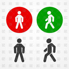 Traffic Light Clipart Traffic Lights Signs Man Walks And Stands Free Vector Clipart