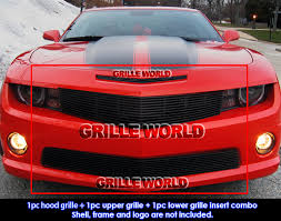 2012 camaro grill for 2010 2013 chevy camaro ss v8 black billet grille grill combo