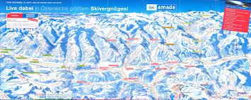 Map Austria Ski Amadé Ski Map Austria Europe
