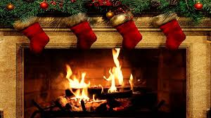 holiday fireplace fire