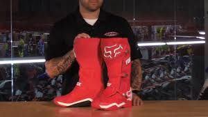 red dirt bike boots fox racing comp 8 motocross boots review youtube