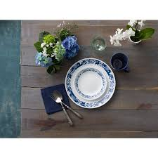 corelle 16 livingware true blue dinnerware set walmart