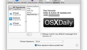 how to make an html signature for mail in mac os x