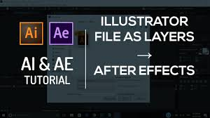 tutorial illustrator layers import illustrator file ai as layers to after effects tutorial