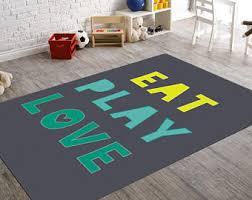 eat play love playroom rug kids room rugs turquoise rug