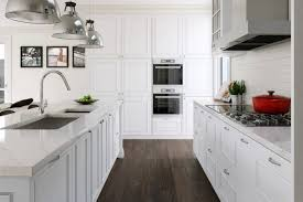 White Kitchen Cabinets With Hardwood Floors by Cool White Wooden Kitchen Cabinet For Luxuruious Classic Kitchen