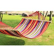 sale adeco cotton fabric canvas hammock with spreader bar tree