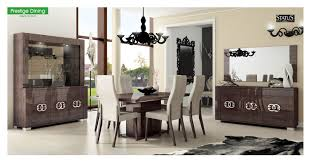 walnut dining room chairs esf furniture prestige 7pcs dining room set in walnut dining