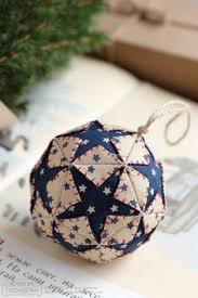Quilted Christmas Ornaments To Make - quilted christmas ornament pattern pdf tutorial folded christmas