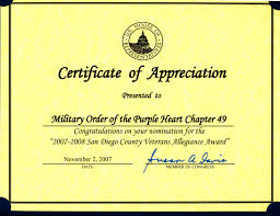 Appreciation Certificate Templates 8 Best Images Of Veterans Certificate Of Appreciation Template
