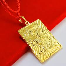 yellow gold pendant necklace images Wholesale don 39 t rub off the gold necklace pendant 24k plated gold jpg