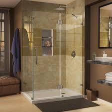 Shower Door Dreamline Quatra 32 1 4 In X 46 5 16 In X 72 In Frameless