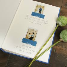 guest book photo album instant wedding guest book album royal blue with gold lettering