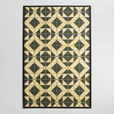 Bamboo Area Rug 4 X6 Black Tile Bamboo Area Rug World Market