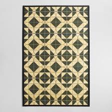 Tile Area Rug 4 X6 Black Tile Bamboo Area Rug World Market