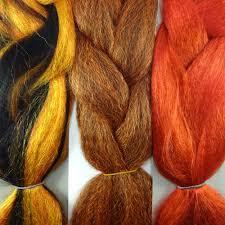kanekalon color comparison from left to right 1b r6 dark autumn