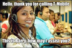 T Mobile Meme - hello thank you for calling t mobile this is barry how may i