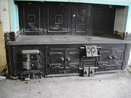 antique magnificent carron cast iron kitchen stove range circa