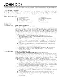 resume examples professional summary cloud computing resume free resume example and writing download resume templates chief technical officer john doe professional summary core qualifications