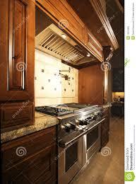 Oven Range Hood Stainless Kitchen Oven Range And Hood Royalty Free Stock Photo