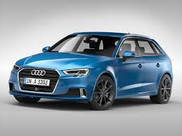 audi automobile models 3d model audi a3 sportback 2017 cgtrader