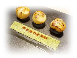 recette cuisine gastronomique jacques sur boudin noir tapis de sauce au persil gingembre