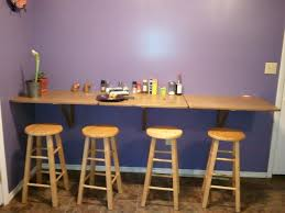Wall Mounted Bar Table with Image Of Wall Mounted Drop Leaf Table And Stools Fun Stuff