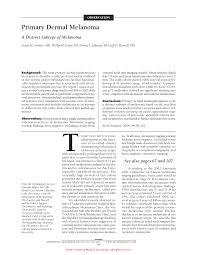 primary dermal melanoma dermatology jama dermatology the