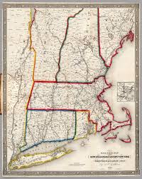 New England Road Map by Railroad Map Of New England U0026 Eastern New York David Rumsey