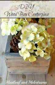 diy wood flower box centerpiece diy do it your self