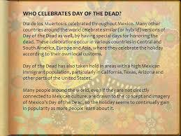 dias de los muertos the days of the dead ppt