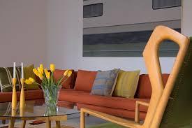 Large Artwork For Living Room by Mid Century Sofa Living Room Modern With Large Artwork Mid Century