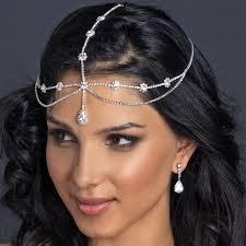 forehead headband style rhinestone teardrop forehead headband 317