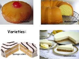different types of cake