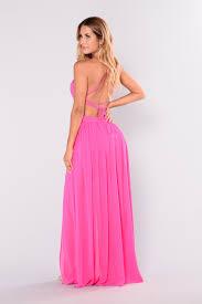hot pink dress summer maxi dress hot pink