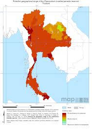 Thailand Map In World Map by Endemic Countries U2013 Malaria Atlas Project