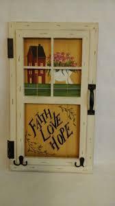 Inspirational Home Decor Faith Hope Love Sign Plaque Inspirational Home Decor White Rustic