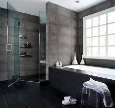 Bathroom Idea by Dark Grey Flooring Zamp Co